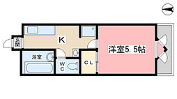 プランドール勧修寺[2階]の間取り