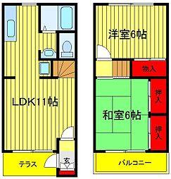 [一戸建] 千葉県柏市西原4丁目 の賃貸【/】の間取り