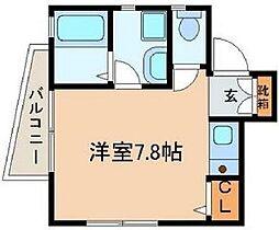 東京都中野区東中野1丁目の賃貸アパートの間取り