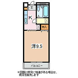 フォレストモール[3階]の間取り