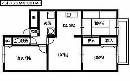 アットハウスMATSUTANI 1[2階]の間取り