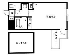 阪神本線 魚崎駅 2階建[n-203号室]の間取り