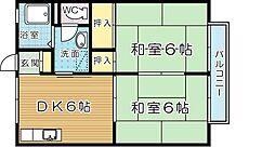 セジュール沖田[2階]の間取り