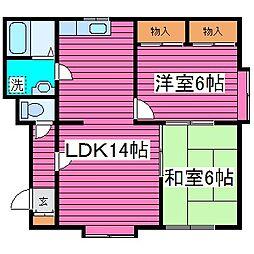北海道札幌市東区北五十条東2丁目の賃貸アパートの間取り