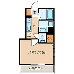 仮称 海楽2丁目D-room計画[101号室]の間取り