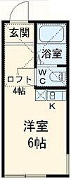 ユナイト東逸見エキュール・ポアロ[103号室]の間取り