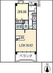 PARTHENON107[2階]の間取り