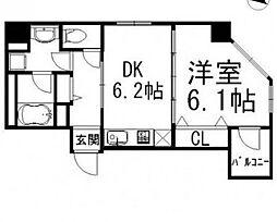 東京都品川区西五反田1丁目の賃貸マンションの間取り