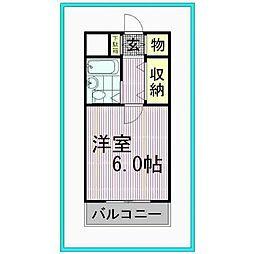 東京都八王子市元本郷町1丁目の賃貸マンションの間取り
