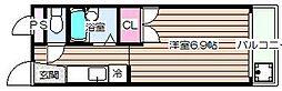 サンライズ箕面[1階]の間取り