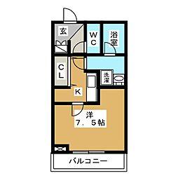 THE CLASS OMORI 1階1Kの間取り