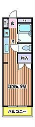 神明岡部マンション II[2階]の間取り