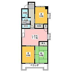 第3横吹小菅ビルB棟[1階]の間取り