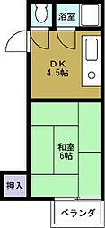 山川マンション[5階]の間取り