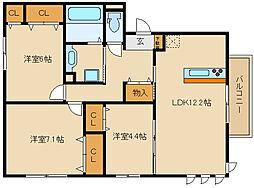 Casa Calma[3階]の間取り