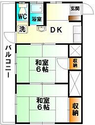 神奈川県小田原市寿町3丁目の賃貸アパートの間取り