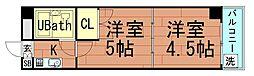 ラパンジール阿波座[9階]の間取り