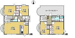 兵庫県西宮市満池谷町の賃貸マンションの間取り