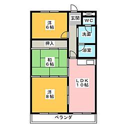 津ロードリーマンション[4階]の間取り