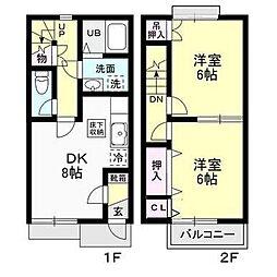[テラスハウス] 神奈川県厚木市長谷 の賃貸【/】の間取り