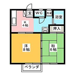 パークサイドサトウ[2階]の間取り