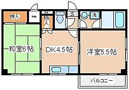 兵庫県神戸市長田区前原町1丁目の賃貸マンションの間取り