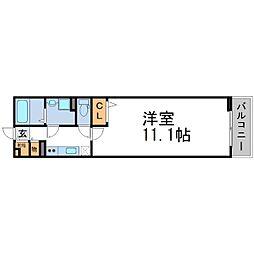 兵庫県尼崎市田能3丁目の賃貸アパートの間取り