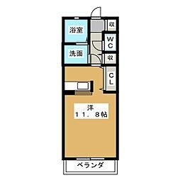 コンフォールII[2階]の間取り