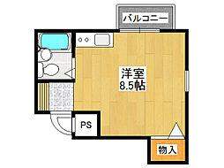 アヴァンティ玉造[2階]の間取り