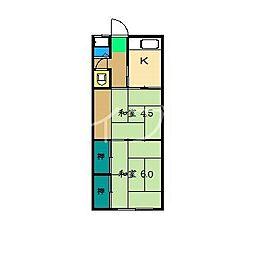 丸松マンション[2階]の間取り