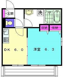 神奈川県横浜市磯子区洋光台3丁目の賃貸マンションの間取り
