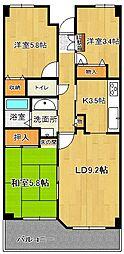 グランディール紫竹山[2階]の間取り