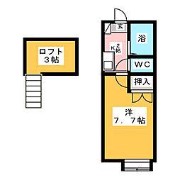 シェリール・ミニA[2階]の間取り