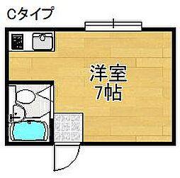 万代住之江コーポ[4階]の間取り