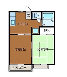 グレースコートB棟[2階]の間取り