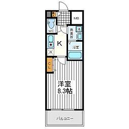 大阪府大阪市阿倍野区王子町3丁目の賃貸マンションの間取り
