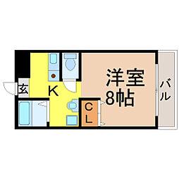 御器所オリトマンション[202号室]の間取り