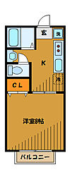 サンハイツ7[1階]の間取り