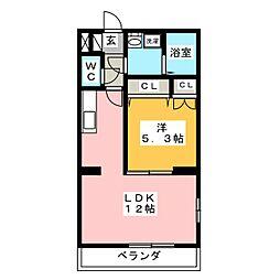 プリムローズC[2階]の間取り