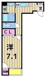 アクロポリスお花茶屋[402号室]の間取り