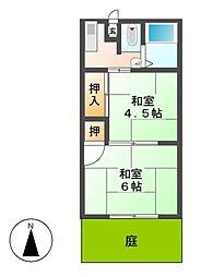 北條荘[1階]の間取り