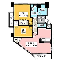 グランマスト桜山広見[8階]の間取り