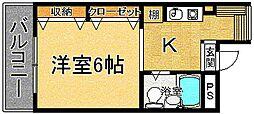 奈良県奈良市南袋町の賃貸マンションの間取り