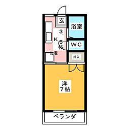 サンコーポ山田 C棟[1階]の間取り