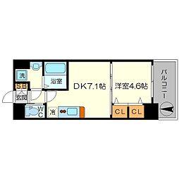 スプランディッド新大阪キャトル 12階1DKの間取り
