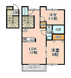 カッツェンアパートメント[101号室]の間取り