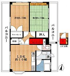 コーポAKIBA[3階]の間取り