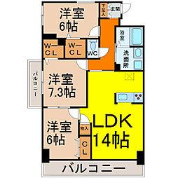 MYM千代田[3階]の間取り