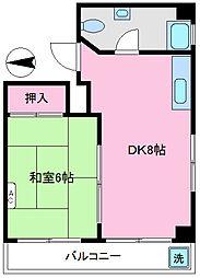 第二中央マンション[501号室]の間取り