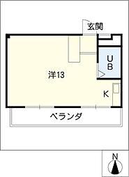 あおやぎハイム6号館[5階]の間取り